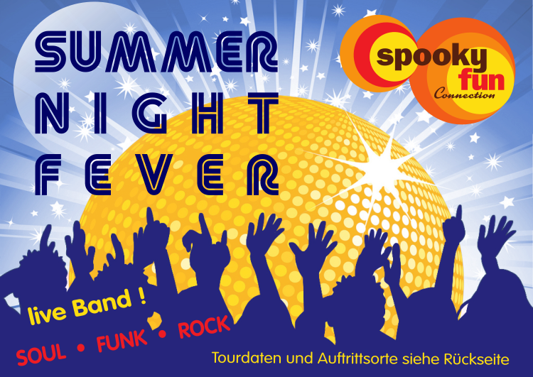 Flyer summer night fever front